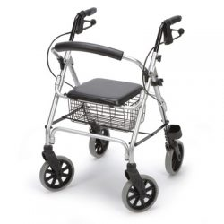 Aluminum walker   4 wheels   Brake   Solid seat Hire in Marbella - Costa del sol .