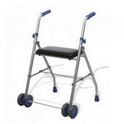 Aluminum walker  front wheels   Solid seat Hire in Marbella - Costa del sol .