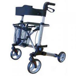 Aluminum walker   4 wheels   Brake   Foldable Hire in Marbella - Costa del sol .