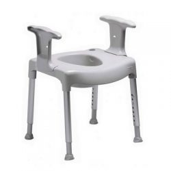 Commode chair with arms and adjustable height for hire in Marbella - costa del sol