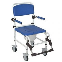 Shower   commode chair with 4 wheels (brake)   removable arms. For hire in Marbella - Costa del sol * commode potty and lid not included.