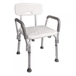Rent  a shower - commode chair with back and adjustable heigh